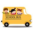 Kids in school bus vector image