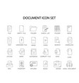 line icons set document pack vector image vector image
