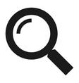 magnify glass icon simple style vector image