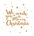 merry christmas on a white background vector image vector image