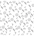 Minimalist pattern with geometric shapes vector image vector image