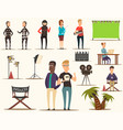 movie making elements set vector image