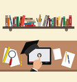 online education concept study using a tablet and vector image