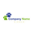 paws logotype vector image vector image