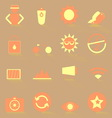 Photography color icons with shadow vector image