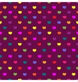 Purple colored hearts textile seamless pattern vector image vector image
