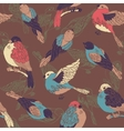Seamless pattern with multicolored birds vector image vector image