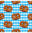 Seamless pattern with pretzels for oktoberfest on