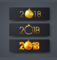 set of black horizontal web banners with golden vector image