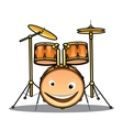 Set of drums and cymbals for a band vector image