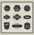 set retro vintage badge linear thin line art vector image vector image