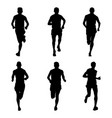 set running marathon vector image