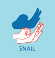 shadow theater hands gesture like snail vector image vector image