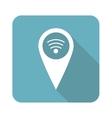 Square Wi-Fi pointer icon vector image vector image