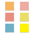 sticky notes 6 pcs vector image vector image