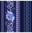 Striped seamless ethnic pattern Paisley wallpaper vector image vector image