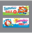 summer sale voucher background template discount vector image vector image