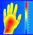 thermal imager medical scan human hand the image vector image vector image