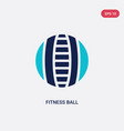 two color fitness ball icon from gym and fitness vector image vector image