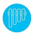 Vibraphone line icon vector image