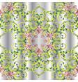 vintage floral 3d damask seamless pattern vector image vector image