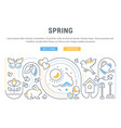 website banner and landing page spring vector image vector image