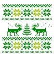 White knitted scandinavian scarf with deer