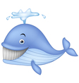 Blue whale cartoon vector image