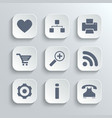 Web icons set - white app buttons vector image
