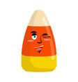 candy corns winking emoji sweet emotion happy vector image