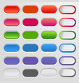 set of colored web buttons colorful collection vector image
