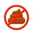 No pooping sign isolated white vector image