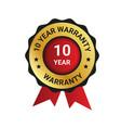 10 year warranty badge label extended warranty