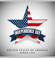 4 th july usa star independence day vector image vector image