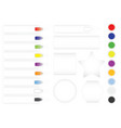 a collection of bright buttons vector image