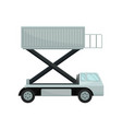 aircraft passenger lift or catering truck side vector image vector image