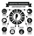argentina infographic concept simple style vector image vector image