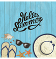Banner summer composition of inscription vector image vector image
