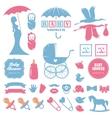bashower design elements set pregnancy vector image