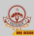 bbq sausage logo image vector image vector image