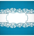 Blue knitted background vector image vector image