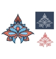 Blue paisley flower with turkish openwork design vector image vector image