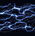 bright realistic flash of lightning in the black vector image vector image