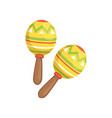 brightly colored maracas traditional symbol of vector image vector image
