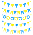Bunting set yellow and blue for scrapbook vector image vector image