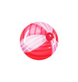 cartoon icon of inflatable ball for playing on the vector image