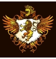 Classic Heraldic Royal Emblem Colorful Icon vector image