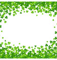 clovers frame isolated vector image vector image