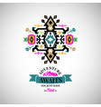 colorful abstract geometric symbol in tribal style vector image