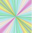 Colorful ray burst background design vector image vector image